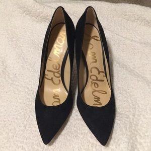 Sam Edelman black suede hazel heels